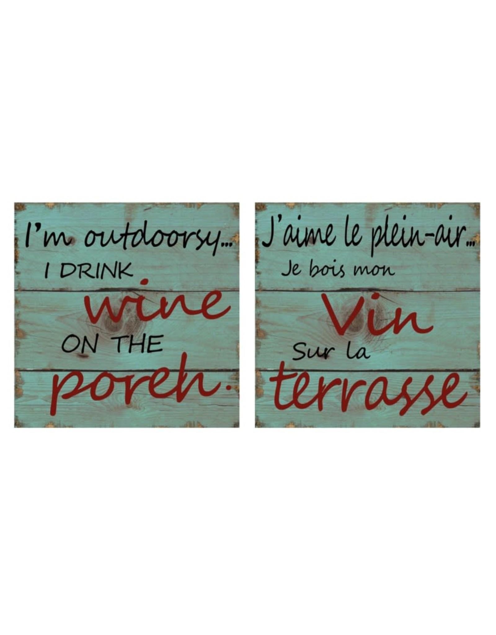 Affiche « Plein-air vin » réversible
