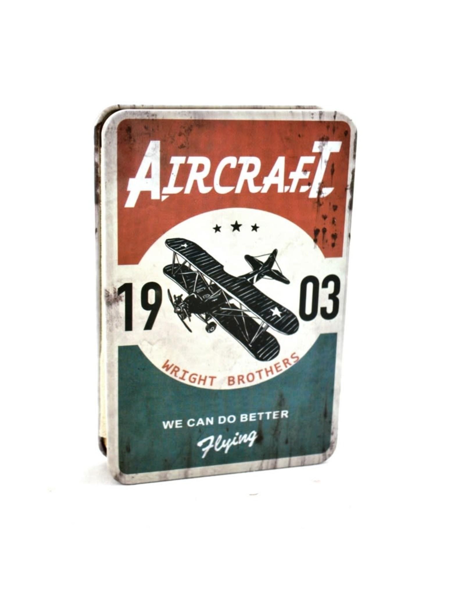 Cahier de notes métal avion