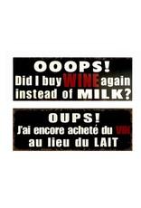 Affiche métal « OUPS ! »