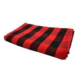 "Nappe Lumberjack  noire et rouge  (60"" x 90"")"
