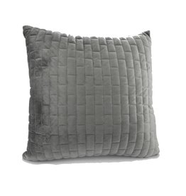 Coussin charbon / gris pâle