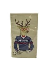 Serviettes de table cerf hipster 10 pcs
