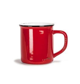 Tasse rouge en grès (14 oz)