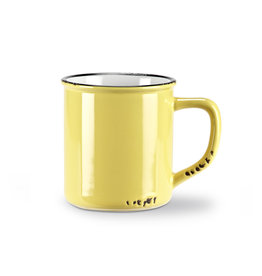 Tasse jaune en grès (14 oz)