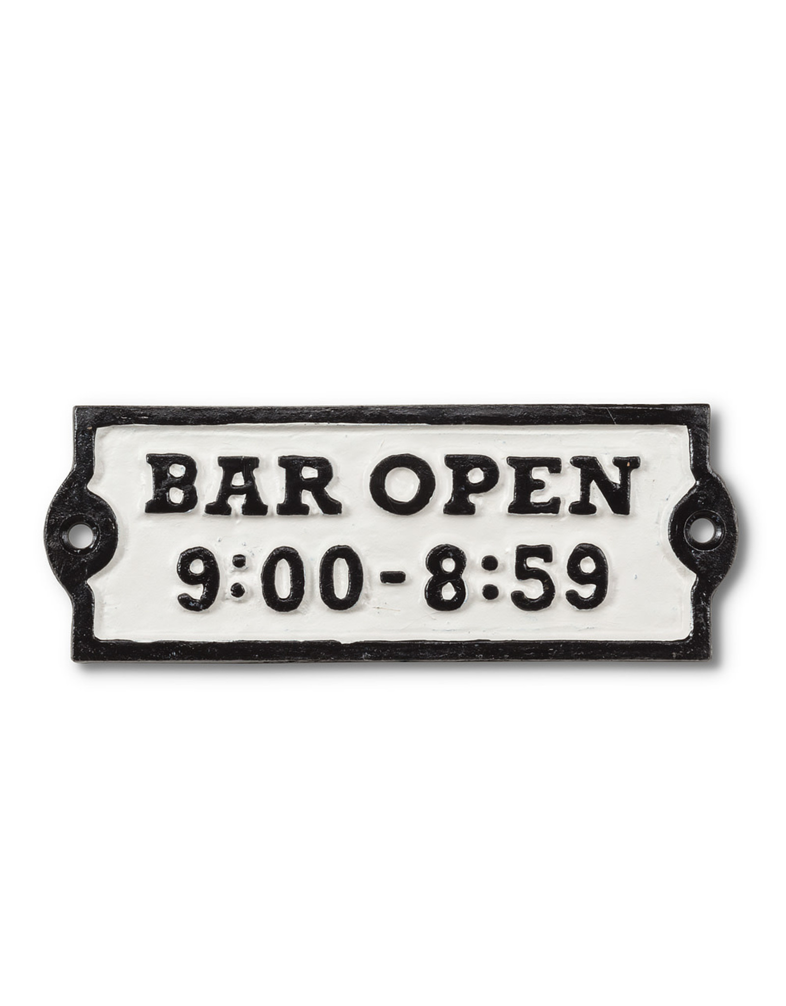 "Plaque "" Bar open"""
