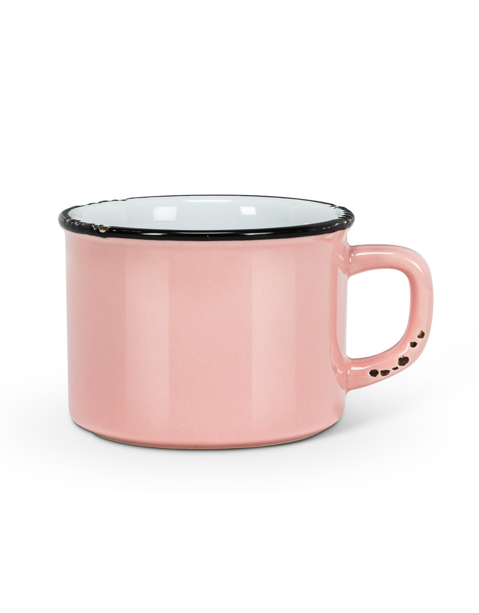 Tasse cappuccino rose en grès (8 oz)