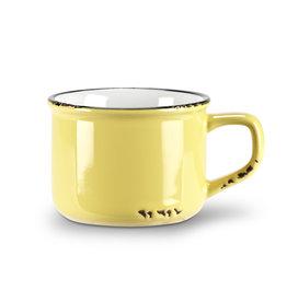 Tasse cappuccino jaune en grès (8 oz)