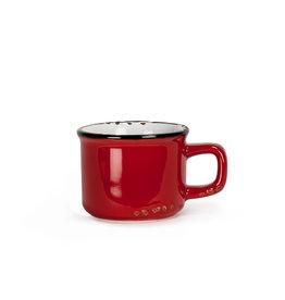 Tasse espresso rouge en grès (3 oz)