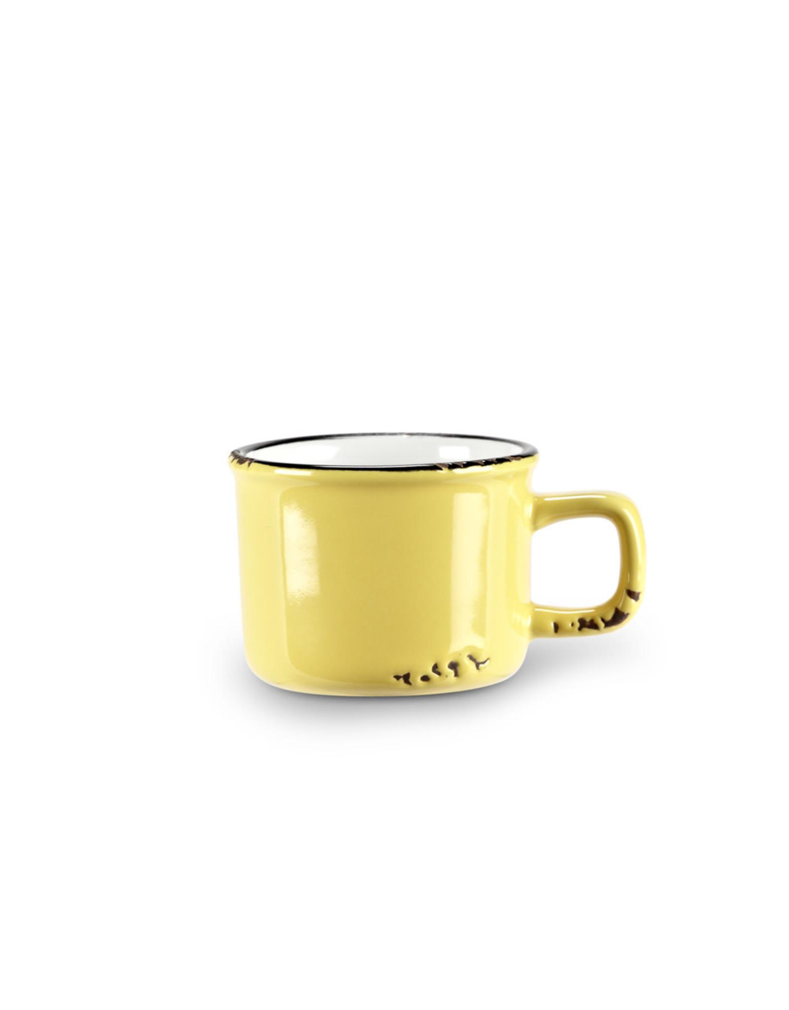 Tasse espresso jaune en grès (3 oz)