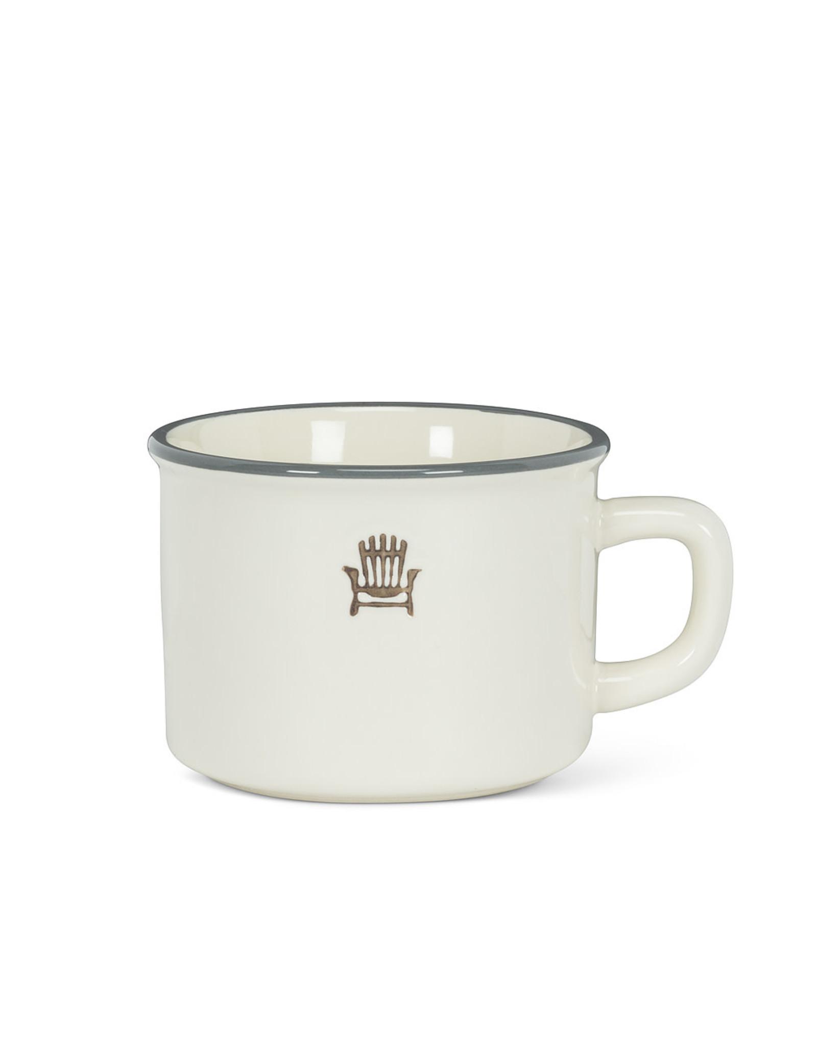 Tasse cappuccino « Cottage chair » ivoire en grès (8 oz)