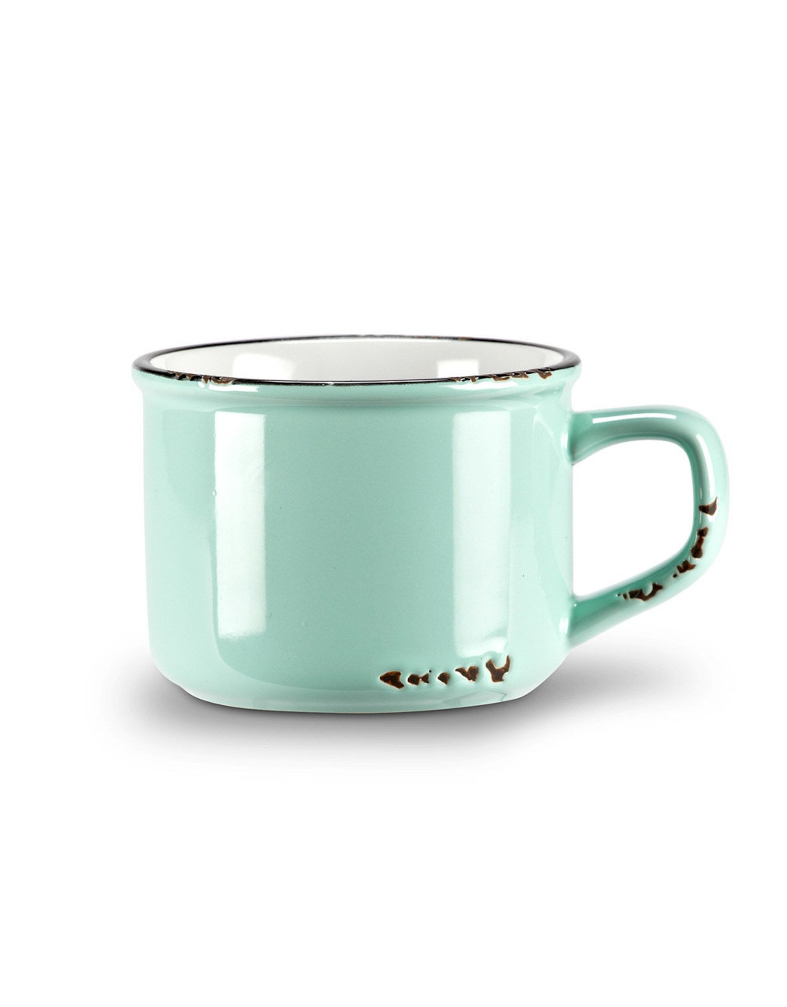 Tasse cappuccino menthe en grès (8 oz)