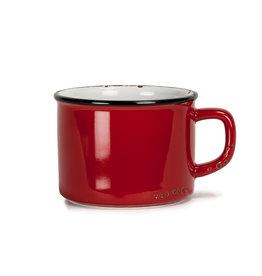 Tasse cappuccino rouge en grès (8 oz)