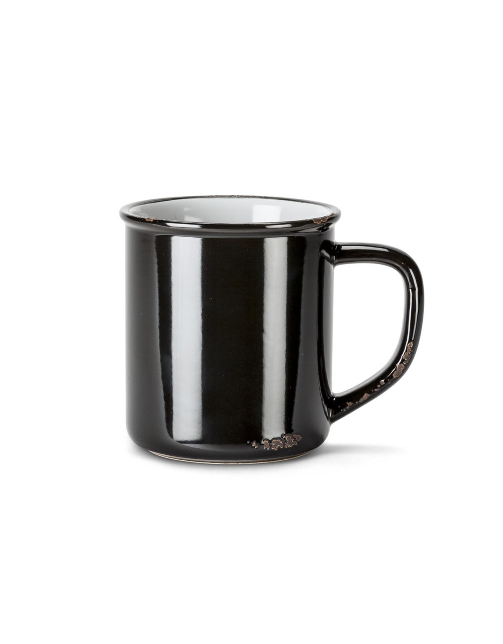 Tasse noire en grès (14 oz)