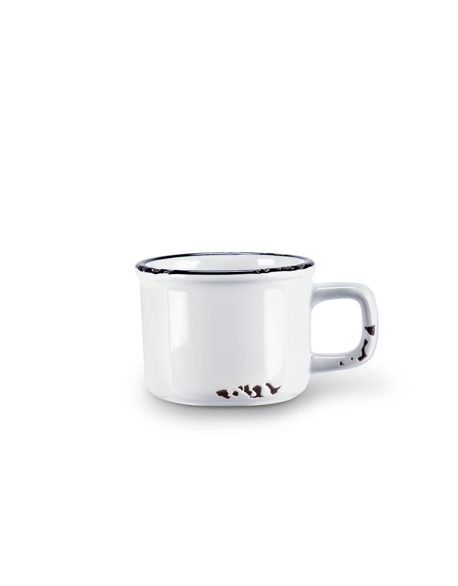 Tasse espresso blanche en grès (3 oz)