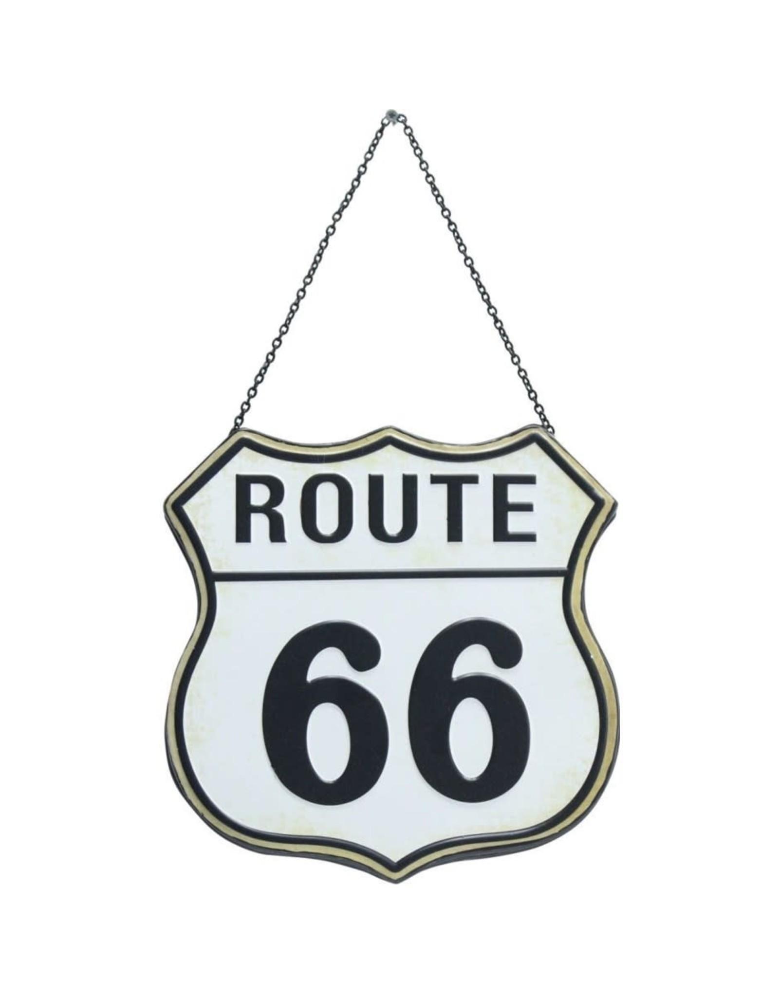 Route 66 blanc suspendu