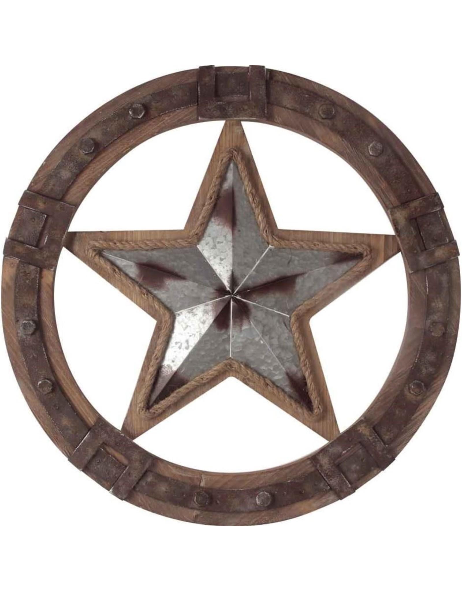 Étoile côtière en métal et bois