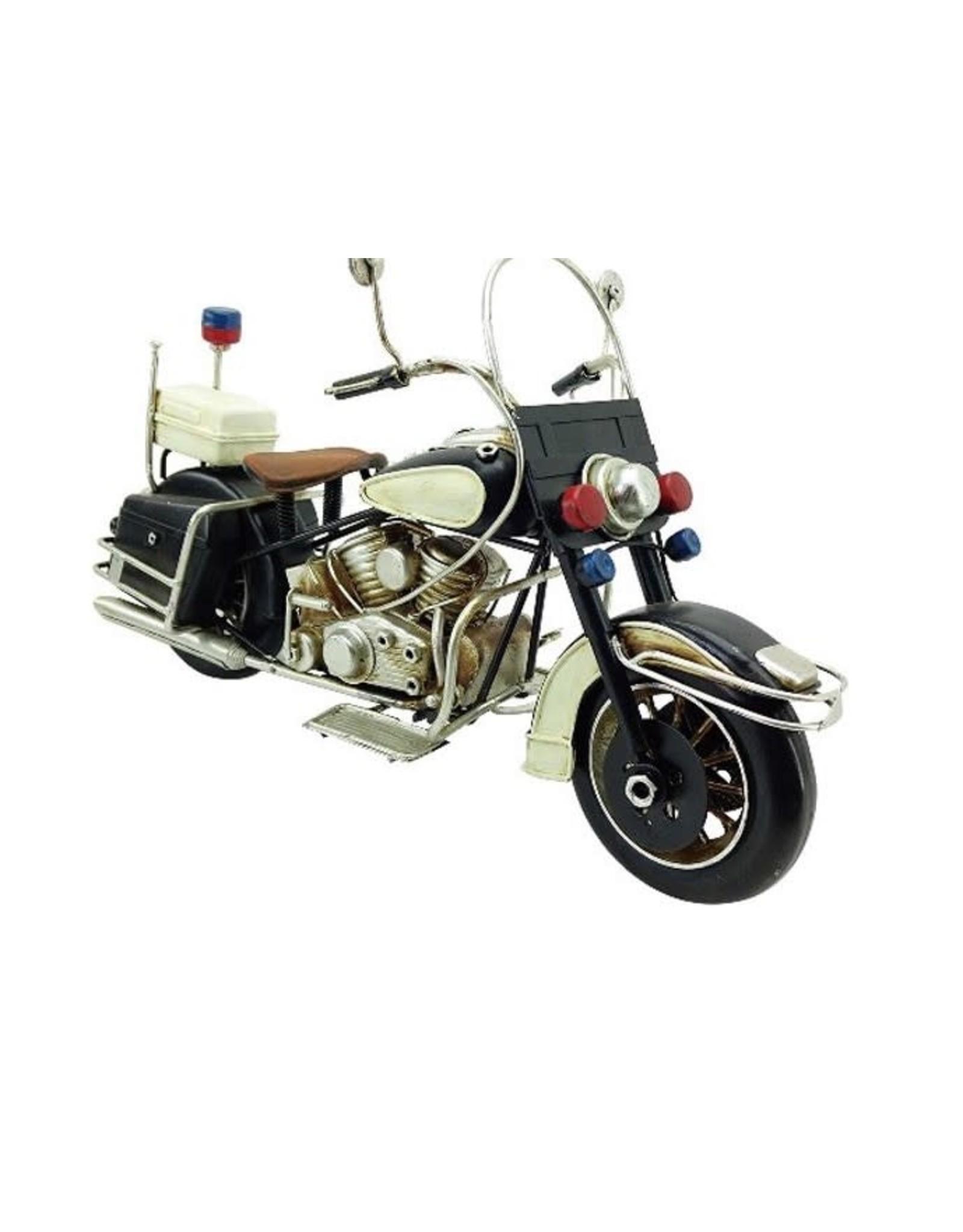 Moto de police noire