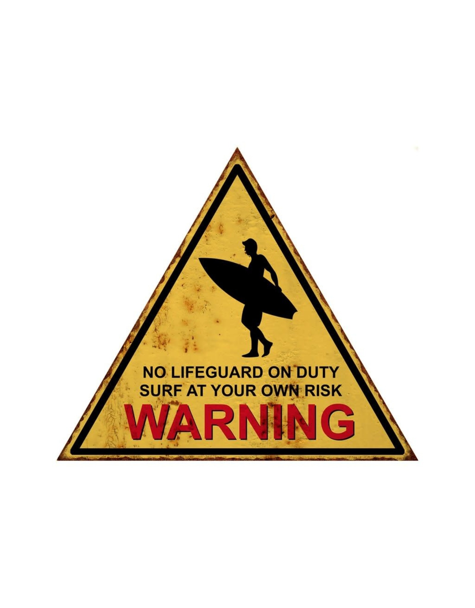 Affiche « Surf at your own risk » en métal