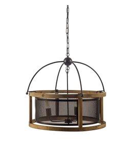 Luminaire « Penhill » noir en bois à trois ampoules