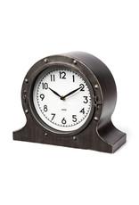 Horloge de table en métal brun rustique
