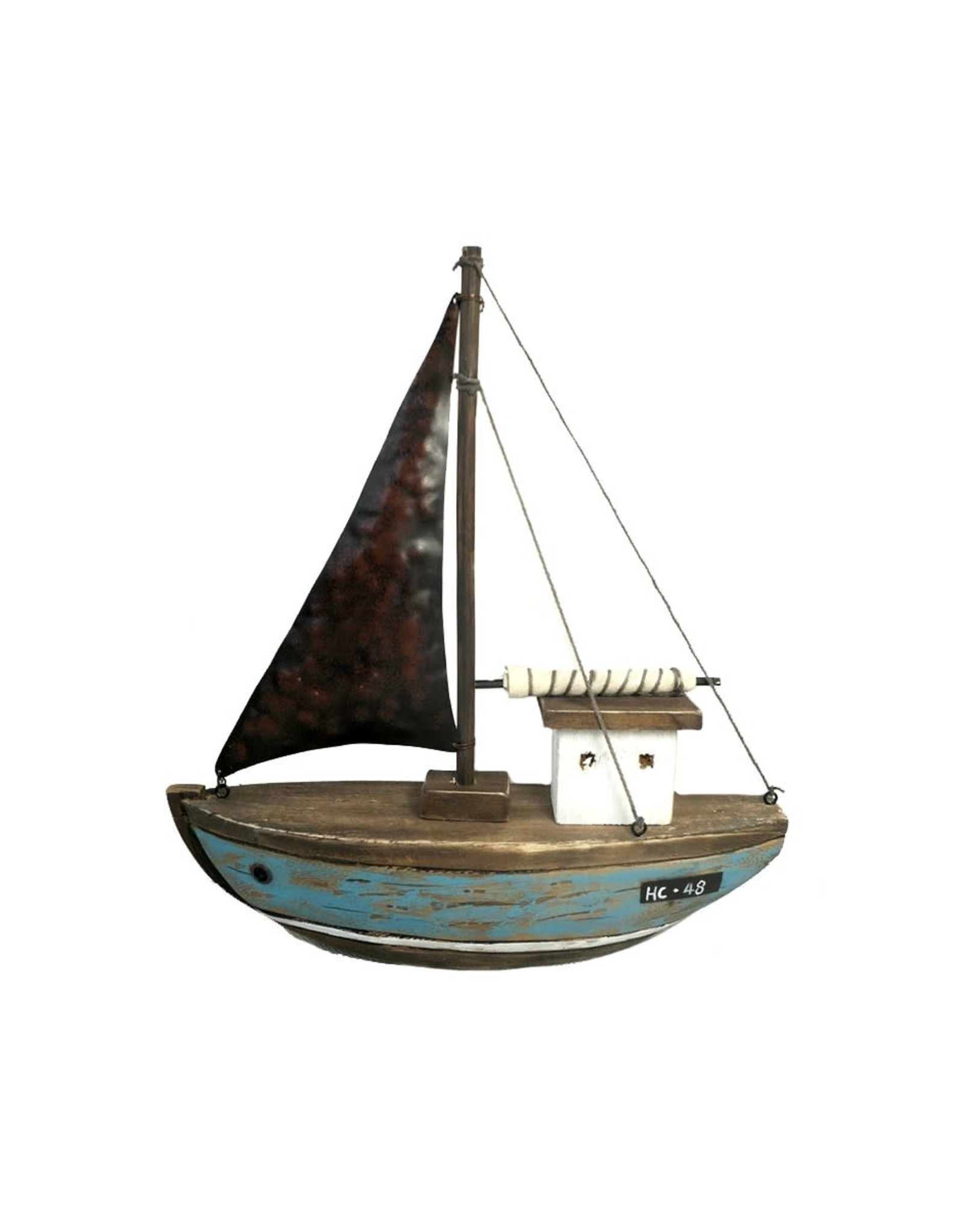 Grand voilier en bois et métal