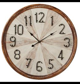 Horloge murale de bois naturel