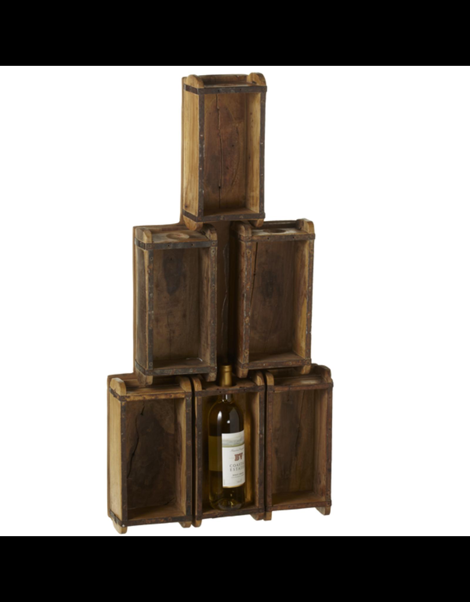 Support à bouteilles de vin - Moule à briques