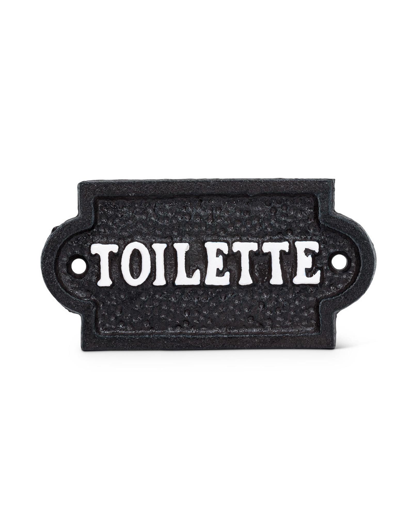 """Plaque """"Toilette"""" brune"""