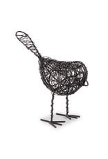"""Oiseau tissé noir 6"""""""