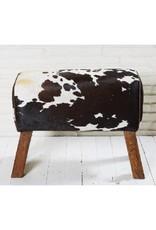 Banc double en peau de vache