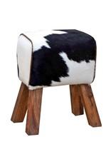 Banc simple en peau de vache