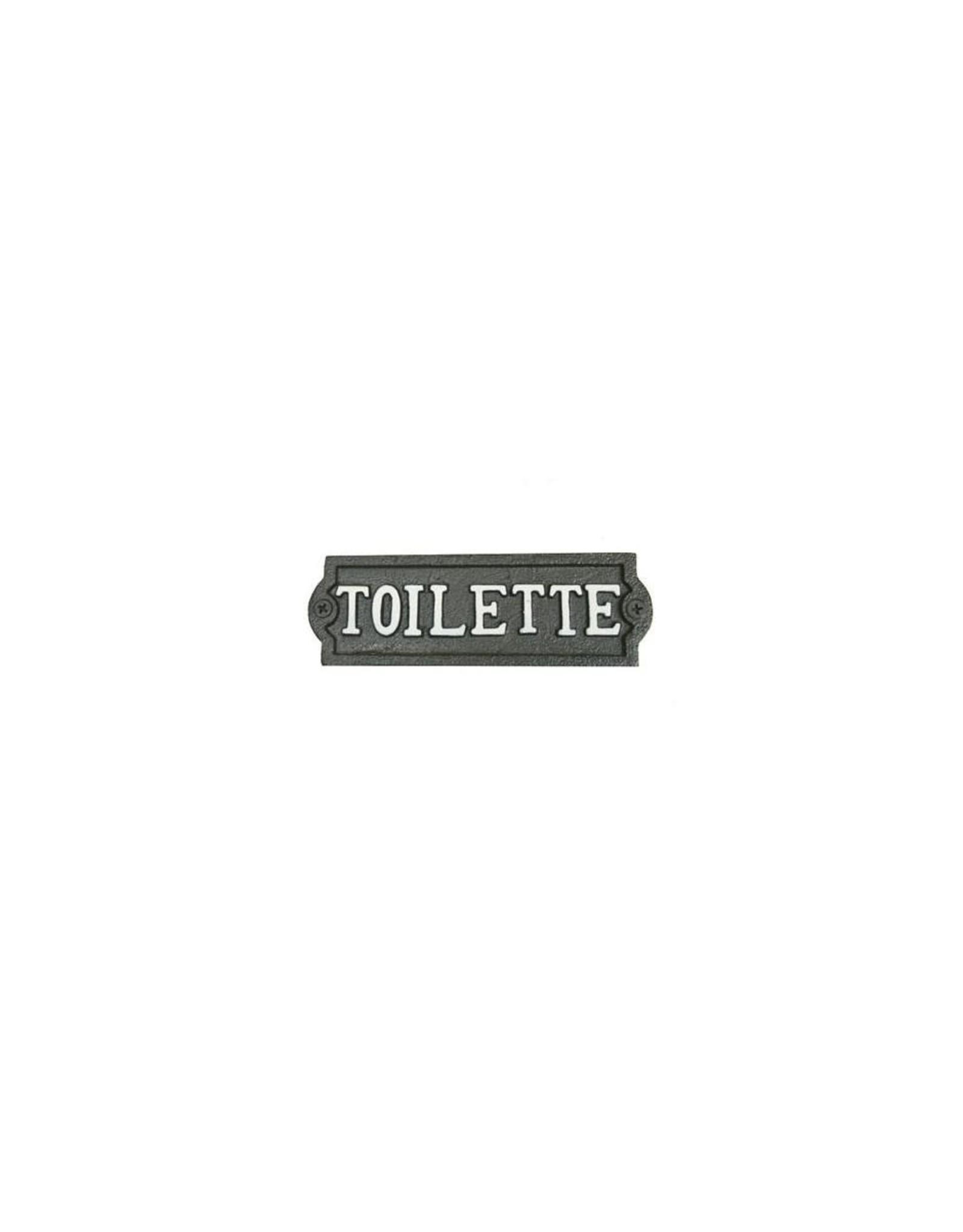 Plaque « Toilette » brune