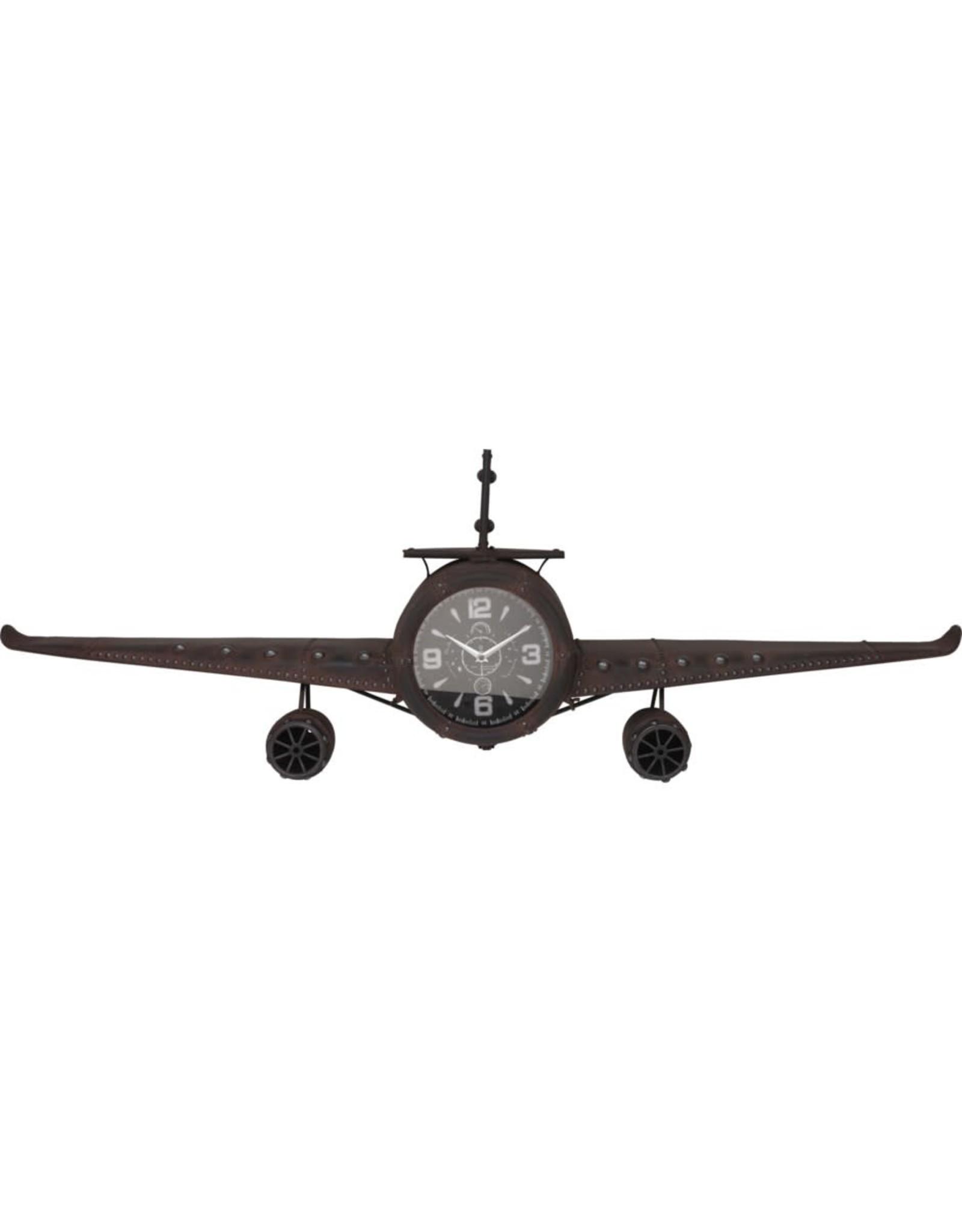 Horloge  en métal - Avion
