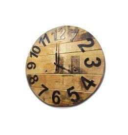 """Horloge en bois rustique   17.7""""D"""