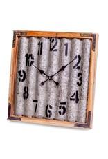 "Horloge murale en métal ondulé  22.4""x22.4"""