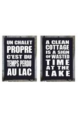 """Affiche """"Chalet propre"""" réversible"""