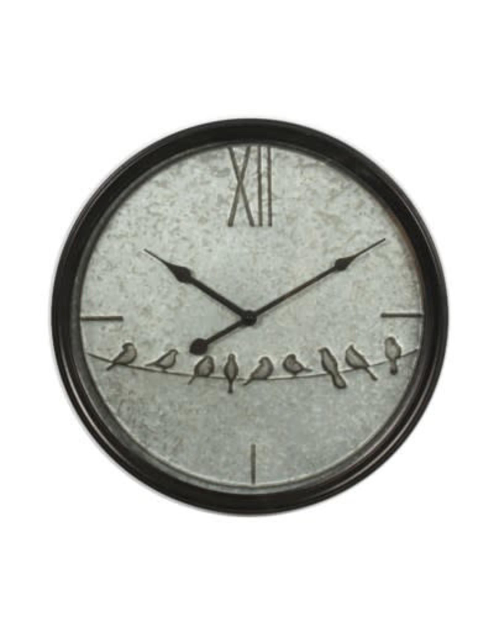 Horloge ronde  - Oiseaux