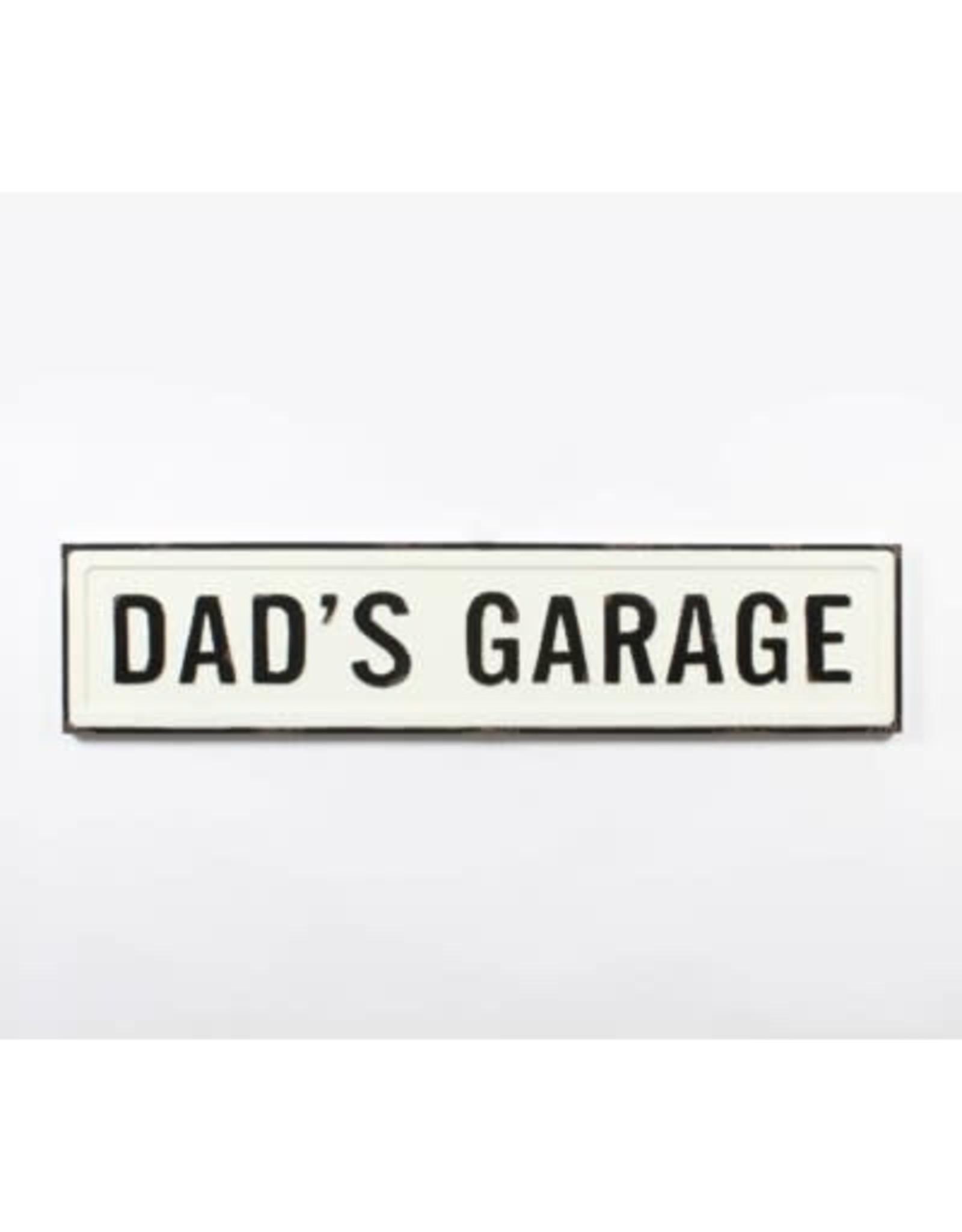 """Affiche """"Dad's garage"""" blanche"""