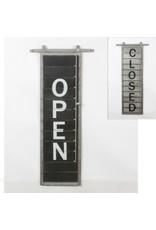 """Affiche """"Open/Close"""" en métal"""