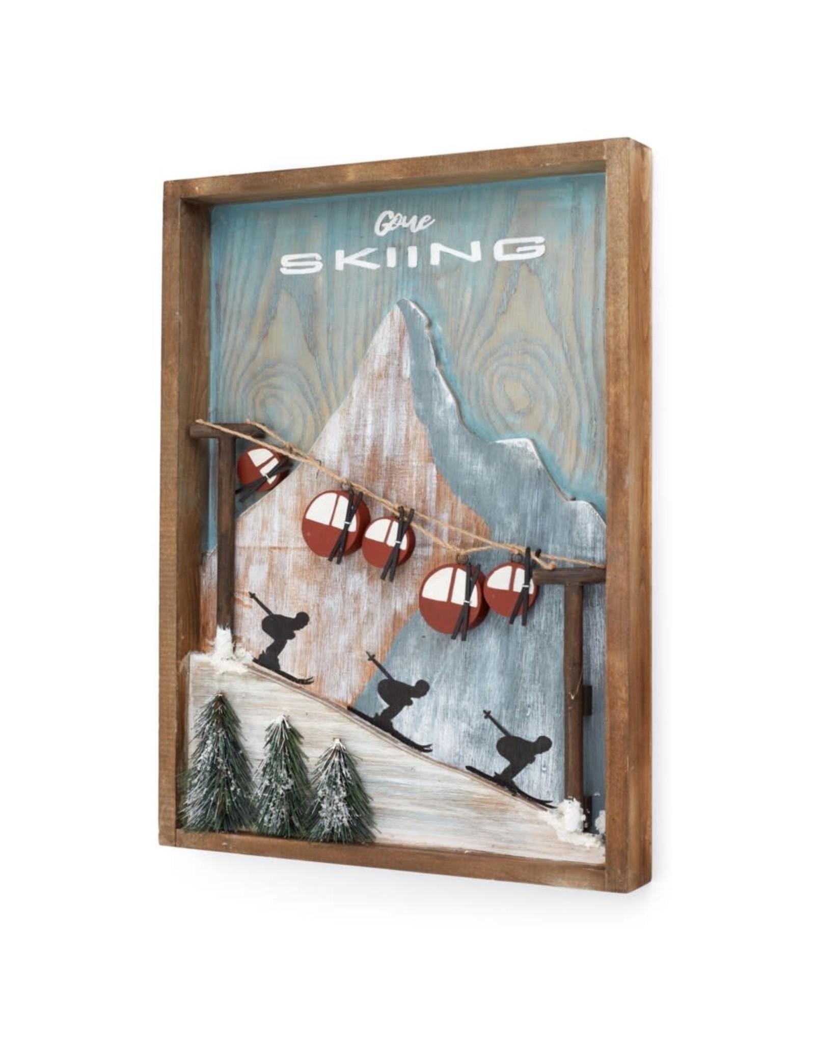 Cadre  ski et gondoles