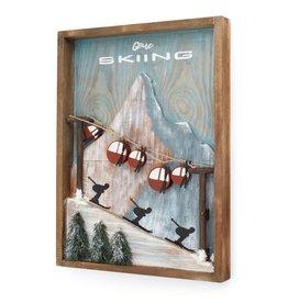 Cadre  ski et gondole
