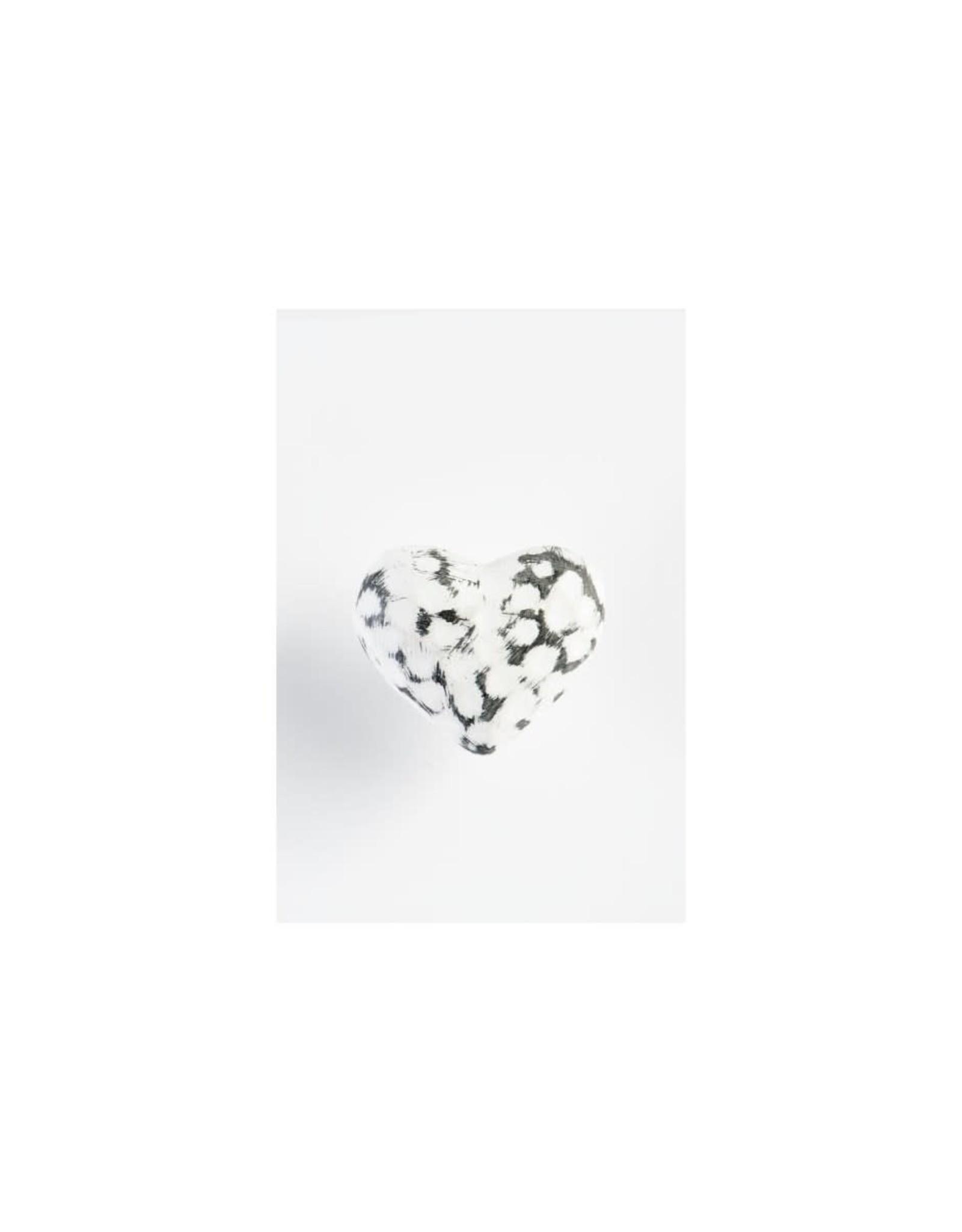 Poignée cœur en fer blanc