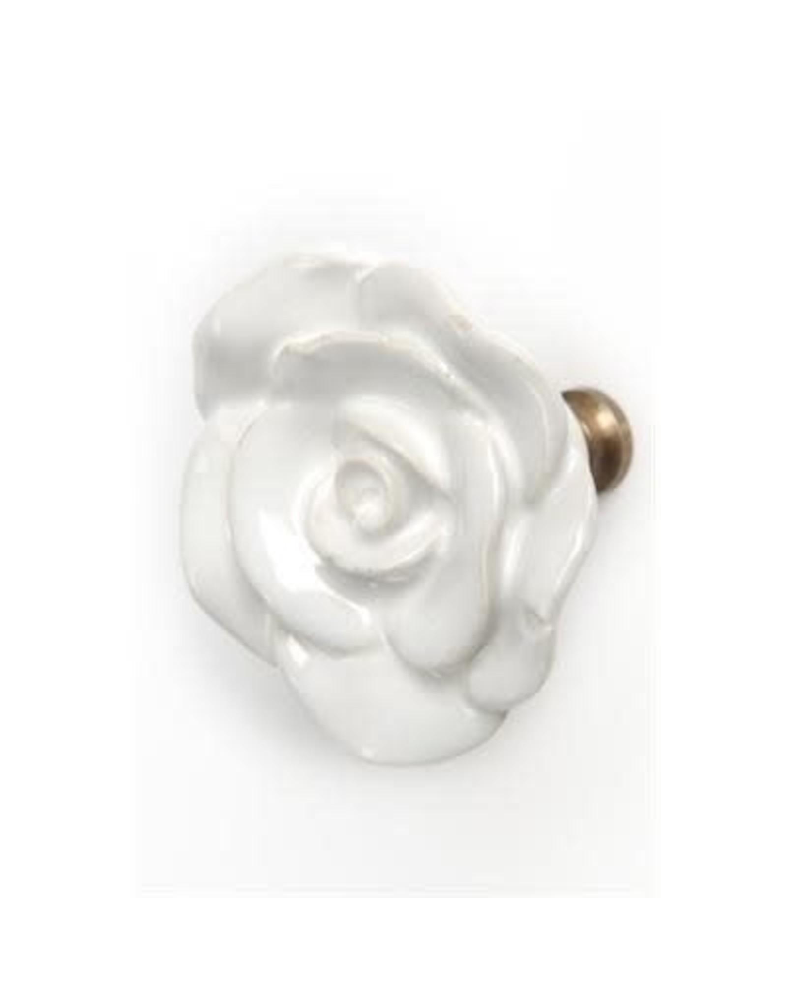 Poignée fleur  blanche en céramique