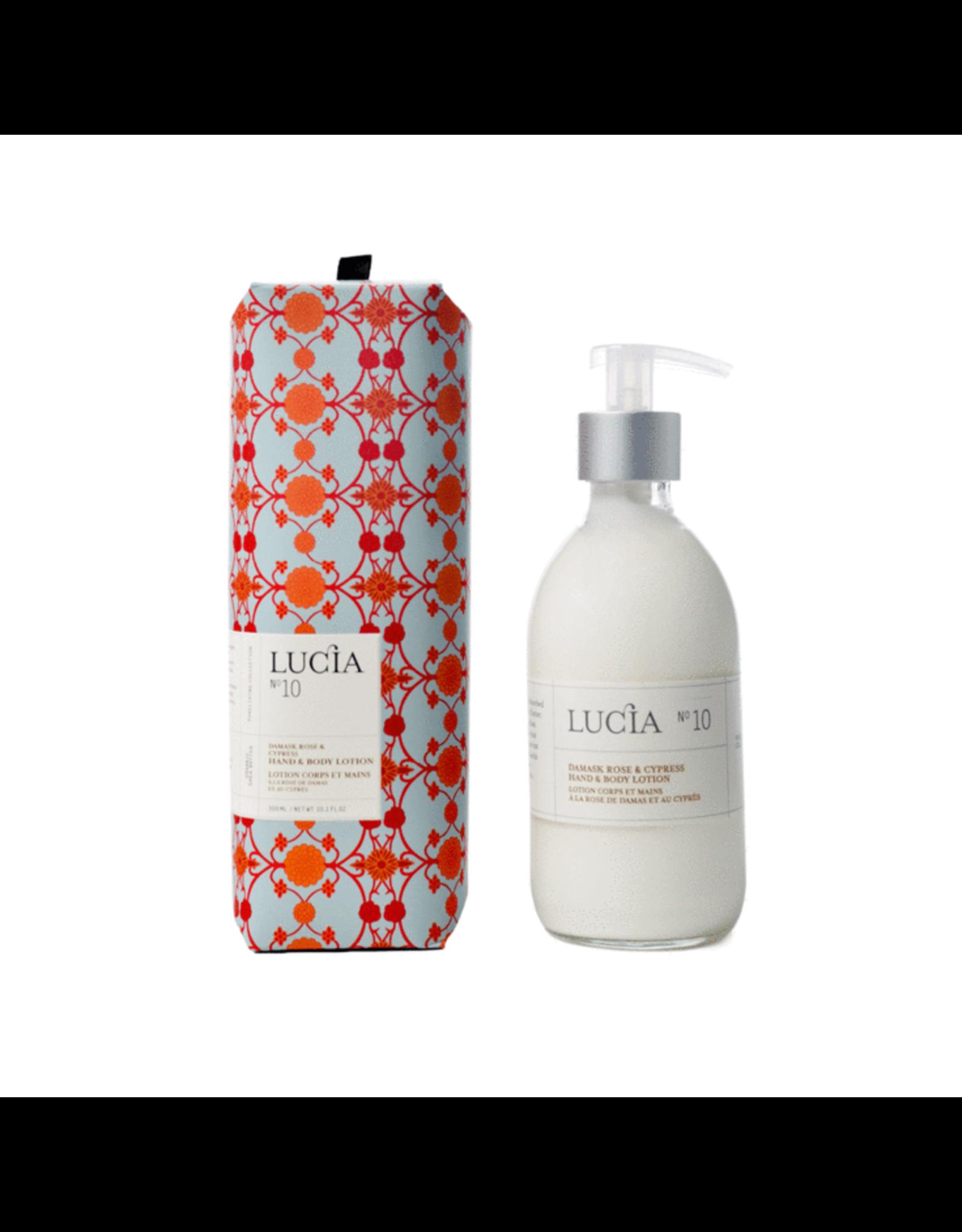 Lucia # 10: Lotion pour le corps et les mains  -  Rose de Damas et Cyprès