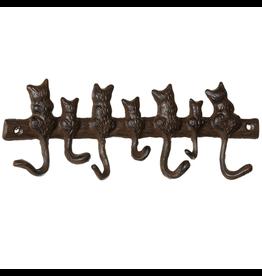 Crochet brun - Queues de chats
