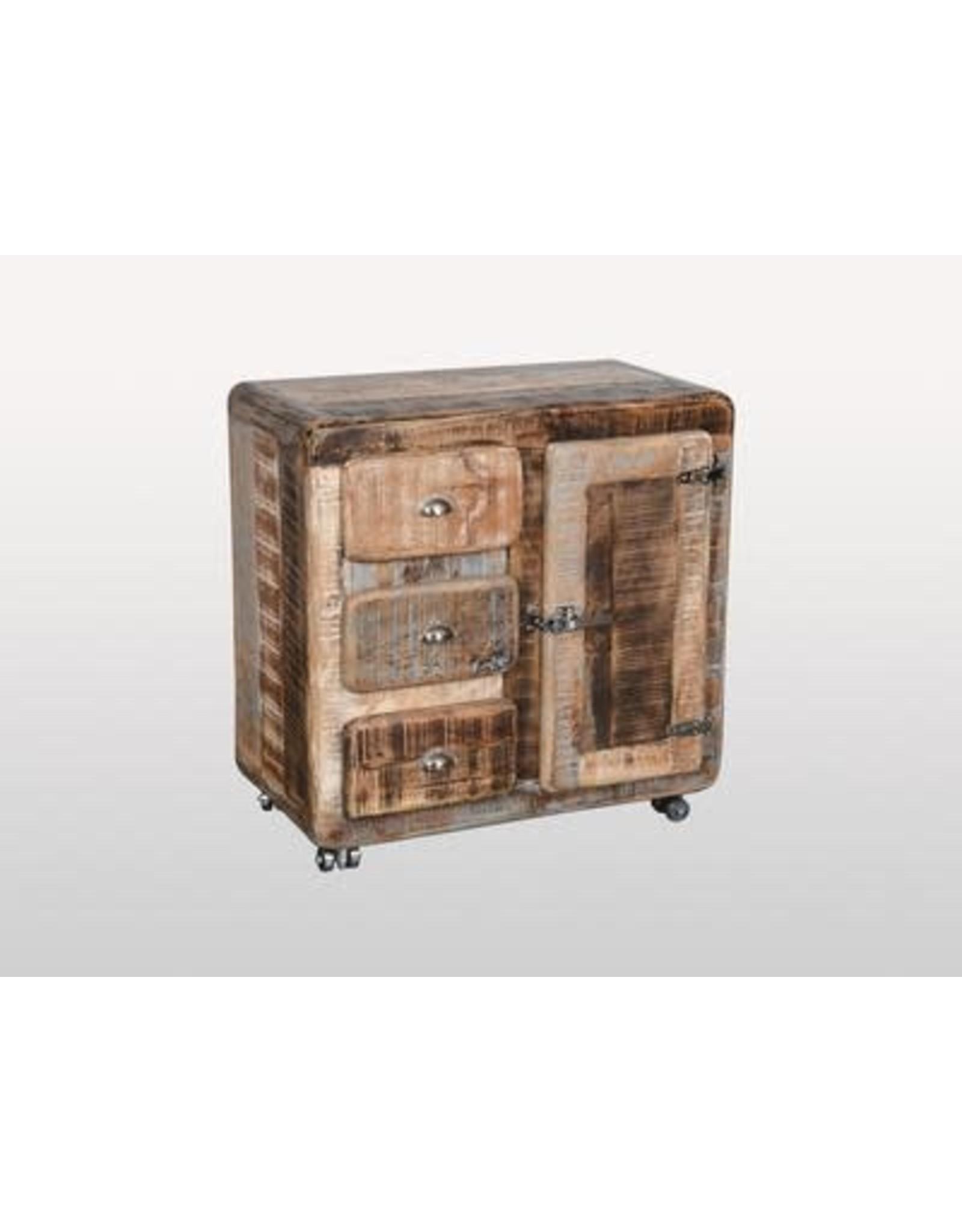 Buffet 1 porte 3 tiroirs  Braun Shugar