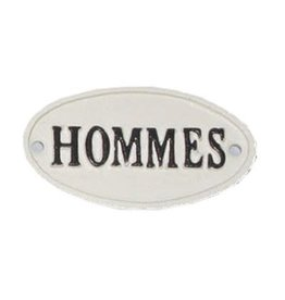 "Plaque ""Hommes"""