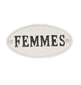 """Plaque """"Femmes"""""""