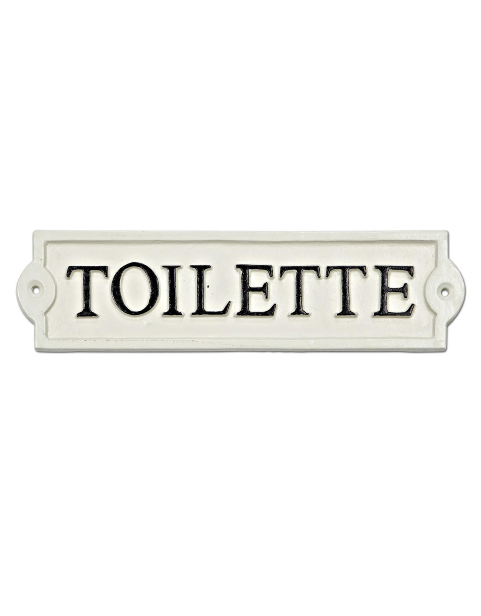 "Plaque ""Toilette"" blanche"