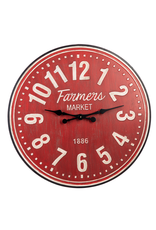 "Horloge rouge - Farmers market 31""D"